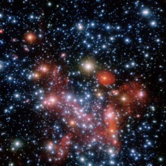 Stars tightly packed at the centre of our Milky Way galaxy Credit: VLT,-ESO
